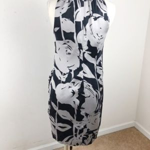 Taylor Dresses - Taylor  Floral Silk Dress Black and Gray Size 4